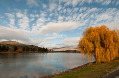 Lago Dunstan Foto de archivo libre de regalías