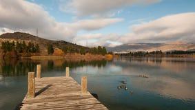 Lago Dunstan Imágenes de archivo libres de regalías