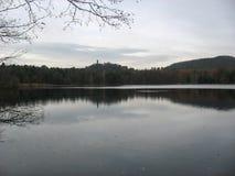 Lago durante l'inverno Fotografia Stock Libera da Diritti