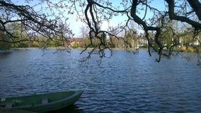 Lago e barca Immagine Stock Libera da Diritti