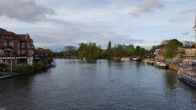 Lago e barche Immagini Stock Libere da Diritti