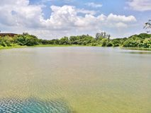 lago e céu Foto de Stock