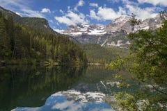 Lago e cumes italianos Fotografia de Stock Royalty Free
