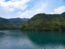 Lago e floresta do bambu na porcelana fotografia de stock royalty free