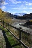 Lago e montagna in valle di Tena, Pyrenees Immagine Stock