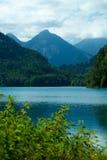 Lago e montagne alps Fotografie Stock Libere da Diritti