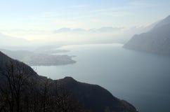 Lago e montagne Bourget Fotografia Stock
