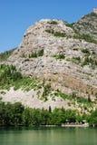 Lago e montanha Waterton Imagens de Stock Royalty Free