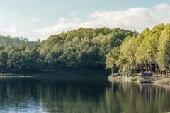 Lago e montanhas Imagens de Stock