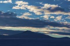 Lago e nuvole congelati Fotografie Stock Libere da Diritti