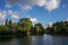 Lago e parque bruges Fotos de Stock Royalty Free