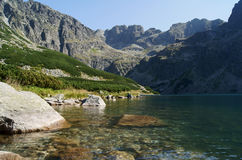 Lago e picco Fotografia Stock Libera da Diritti