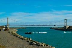 Lago e ponte glacier de Jokulsarlon Foto de Stock