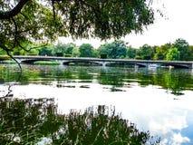 Lago e ponticello Fotografie Stock Libere da Diritti