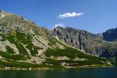 Lago e roccia Fotografia Stock Libera da Diritti