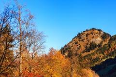 Lago e vista mountain alle alpi bavaresi Fotografie Stock