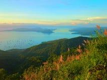 Lago e vulcão Taal Foto de Stock Royalty Free
