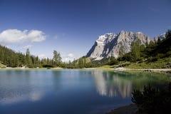 Lago e Wetterstein Seebensee Fotografia de Stock Royalty Free