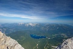 Lago Eibsee Foto de Stock Royalty Free