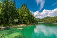 Lago Eibsee in Baviera Germania Fotografie Stock
