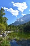 Lago Eibsee Germania Fotografia Stock