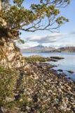 Lago Eishort y Cuillins en Skye Fotos de archivo libres de regalías