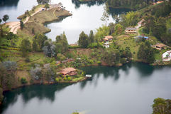 Lago el Penol panorámico en Colombia Foto de archivo