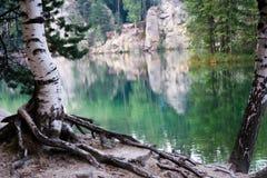 Lago em Adrspach, CZ Foto de Stock Royalty Free
