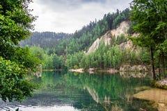 Lago em Adrspach, CZ Fotos de Stock Royalty Free