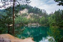 Lago em Adrspach, CZ Imagens de Stock Royalty Free