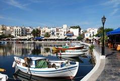 Lago em Aghios Nikolaos Fotografia de Stock Royalty Free