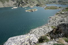 Lago em Andorra Foto de Stock Royalty Free
