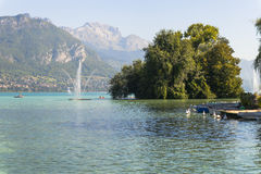 Lago em annecy Foto de Stock Royalty Free