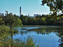 Lago em Barlow Common Nature Reserve, Yorkshire fotos de stock royalty free