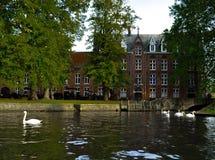 Lago em Bruges Foto de Stock