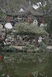 Lago em China na vila pequena perto de Shanghai imagens de stock