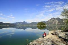 Lago em Europa Fotografia de Stock Royalty Free