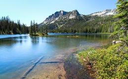 Lago em ferradura, Eagle Cap Wilderness, Oregon, EUA fotos de stock
