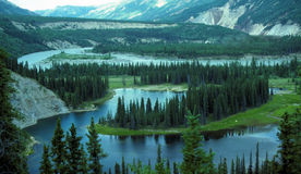 Lago em ferradura em Alaska Fotografia de Stock Royalty Free