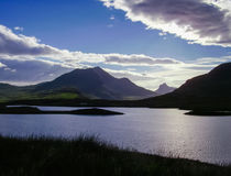 Lago em higlands da natureza de Escócia Imagem de Stock