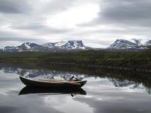 Lago em Lapland fotografia de stock royalty free