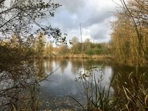 Lago em Middelharnis imagem de stock royalty free