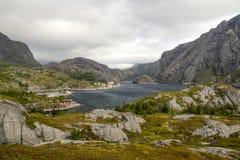 Lago em Noruega do norte Fotografia de Stock
