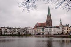 Lago em Schwerin, Alemanha Foto de Stock Royalty Free