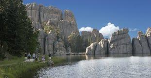 Lago em South Dakota imagem de stock