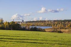 Lago em Tampere Foto de Stock