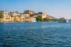 Lago em Udaipur Imagem de Stock Royalty Free