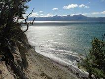 Lago Emerald Coast la Terra del Fuoco Fotografia Stock Libera da Diritti