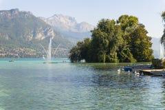 Lago en Annecy Foto de archivo libre de regalías