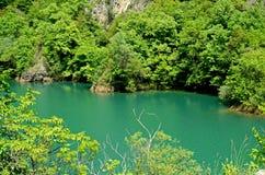 Lago en barranco Imagenes de archivo